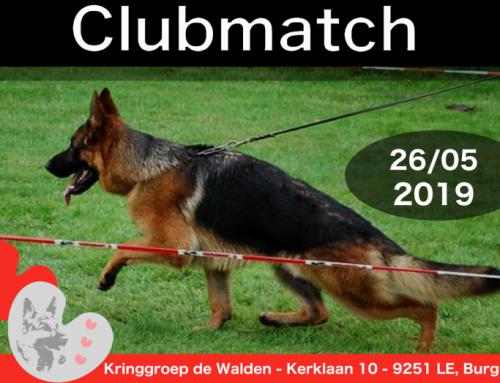 Uitslagen Clubmatch 26 mei 2019