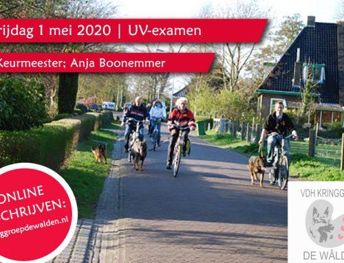 Vrij. 1 mei 2020 | UV-examen met als keurmeester; Anja Boonemmer